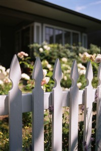 White Picket Fence Around Yard